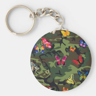 butterfly camouflage keychain