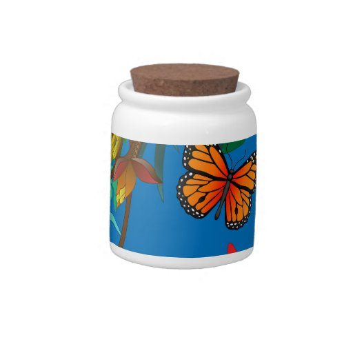 butterfly candy jar