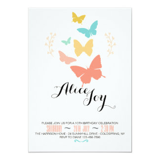 Butterfly Canvas Invitation
