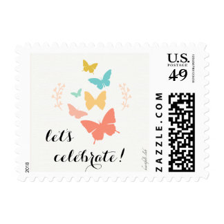 Butterfly Canvas Postage Stamps
