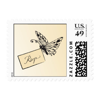 Butterfly carrying rsvp response card postage