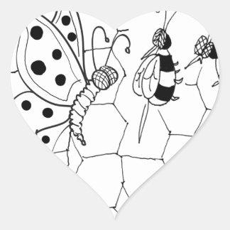 Butterfly Cartoon 8922 Heart Sticker
