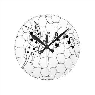 Butterfly Cartoon 8922 Round Clock