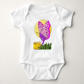 Butterfly Cartoon Baby Bodysuit