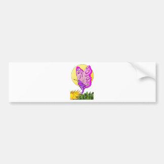 Butterfly Cartoon Bumper Sticker