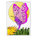 Butterfly Cartoon Greeting Card