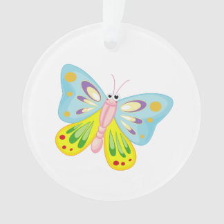 Butterfly cartoon ornament