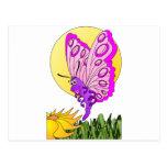 Butterfly Cartoon Postcard
