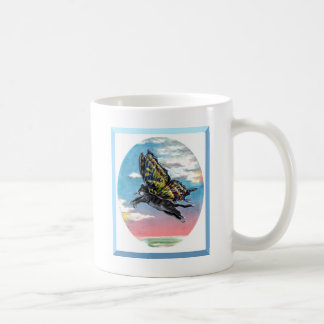Butterfly cat coffee mug
