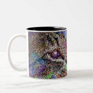 butterfly cat dreams of pointillism mug