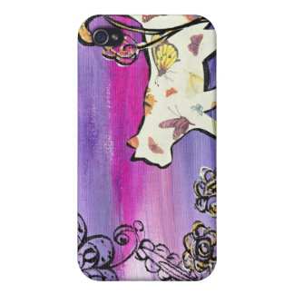 Butterfly Cat iPhone 4/4S Cases