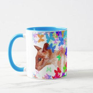 butterfly cat mug