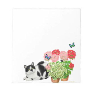 Butterfly Cat Notepad