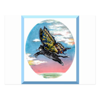Butterfly cat postcard