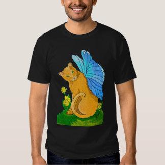 Butterfly Cat T-shirt (dark design)