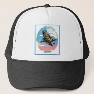 Butterfly cat trucker hat