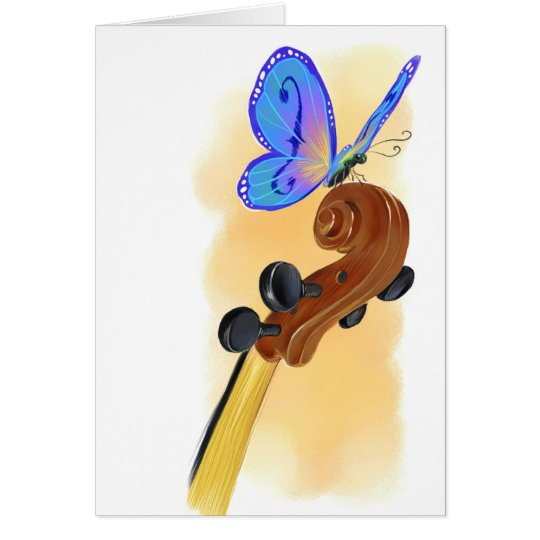 Butterfly Cello Card