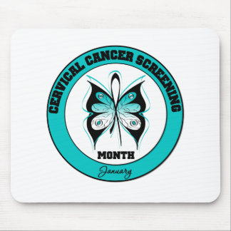 Butterfly - Cervical Cancer Screening Month Mouse Pad