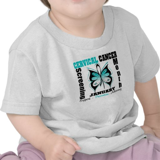 Butterfly Cervical Cancer Screening Month Tees