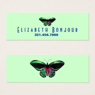 Butterfly - CHANGE COLOR / Mini Business Card