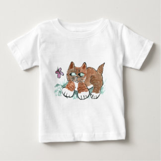 Butterfly Chase Chase by Tiger Kitten. Baby T-Shirt