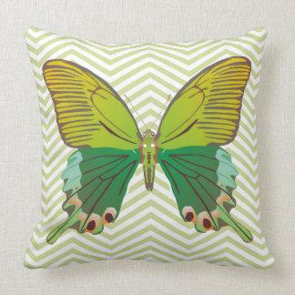 Butterfly cheron modern vector throw pillow