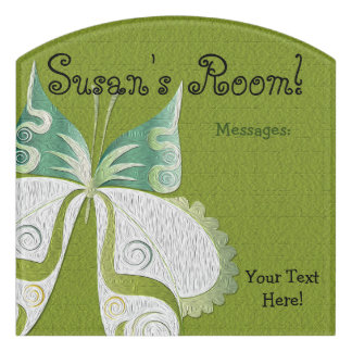 Butterfly Child or Dorm Room Message Board Sign 1 Door Sign