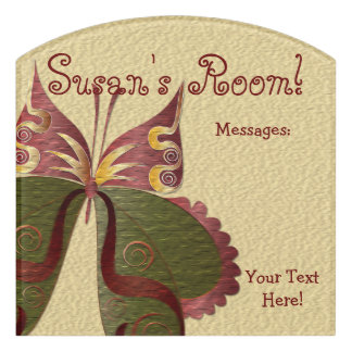 Butterfly Child or Dorm Room Message Board Sign 4B Door Sign