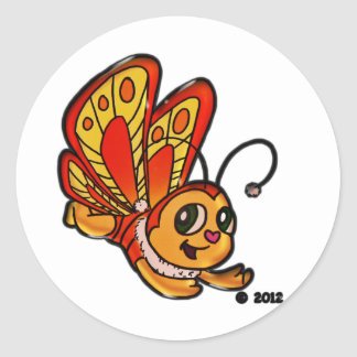 Butterfly Chloe Promotional Items Classic Round Sticker