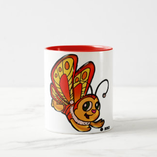 Butterfly Chloe Promotional Items Two-Tone Coffee Mug