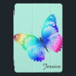 """Butterfly CHOOSE THE Color Your Name iPad Pro Cover<br><div class=""""desc"""">ipad 10 Pro cover. Butterfly you can choose the background color,  add Your Name,  eye catching,  easy to spot.</div>"""