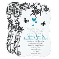 Butterfly Christian Fairy Tale Wedding Invitation