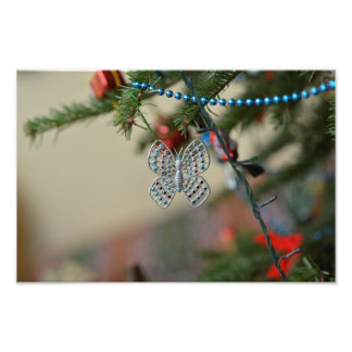Butterfly Christmas ornament Photo Print