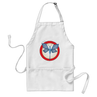 Butterfly Circle Designed Item Adult Apron