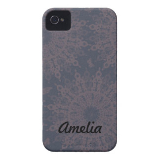 Butterfly Circle Material Pattern Case-Mate iPhone 4 Case