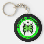 Butterfly Circle Mental Health Awareness Keychain