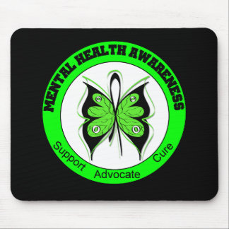 Butterfly Circle Mental Health Awareness Mouse Pad