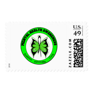 Butterfly Circle Mental Health Awareness Postage Stamp