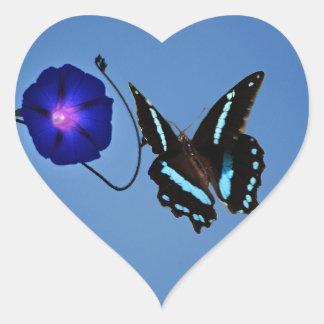 Butterfly class heart sticker