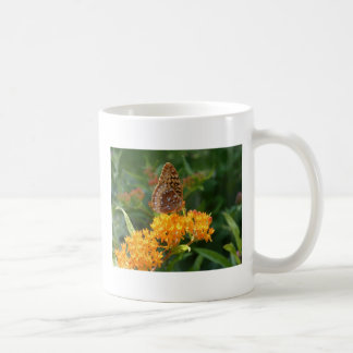 butterfly classic white coffee mug