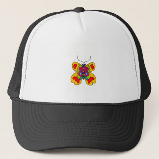 butterfly clear and color trucker hat