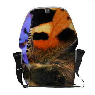 Butterfly close up courier bag