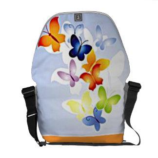 Butterfly Clouds Rickshaw Messenger Bag