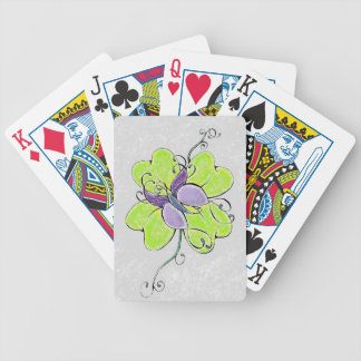 BUTTERFLY CLOVER DESIGN BICYCLE PLAYING CARDS