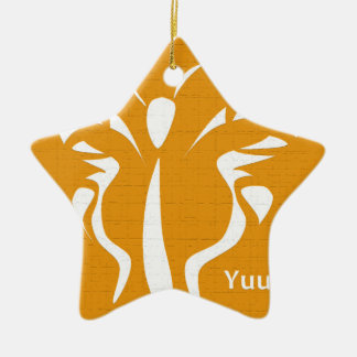 Butterfly + Cluck Ceramic Ornament