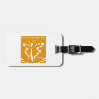 Butterfly + Cluck Luggage Tag