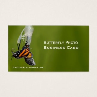 Butterfly Cocoon Photo Business Card Template