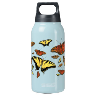 Butterfly Collage Aluminum SIGG Thermo 0.3L Insula Thermos Bottle