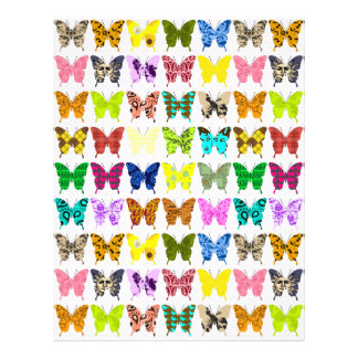 Butterfly Collage Art Paper