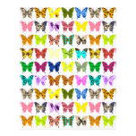 Butterfly Collage Art Paper Letterhead